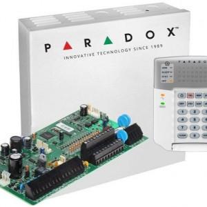 Centrala Paradox Spectra cu 16 zone cutie si tastatura SP7000(CT)+K32+