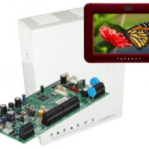 Centrala Paradox Spectra cu 5 zone cutie si tastatura 5inch SP5500(CT)+TM50(L)