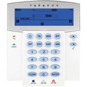 Tastatura cablata LCD Paradox cu 32 de zone K35