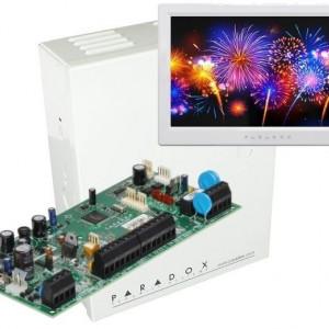 Centrala Paradox Spectra cu 5 zone cutie si tastatura 7inch SP5500(CT)+TM70(L)