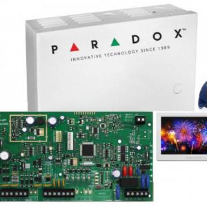 Kit Centrala Magellan Paradox cutie tastatura si telecomanda MG5000(CT)+TM70+REM1