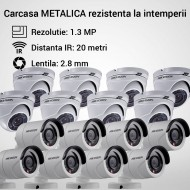 Kit Hikvision CCTV 16 camere dome/bullet TurboHD 1.3MP MK058-KIT08