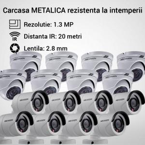 Kit Hikvision CCTV 16 camere dome/bullet TurboHD 1.3MP MK058-KIT08