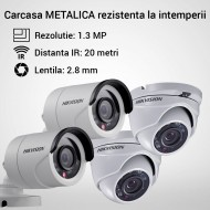 Kit Hikvision CCTV 4 camere bullet/dome TurboHD 1.3MP MK052-KIT02