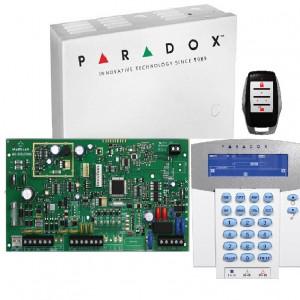 Kit Centrala Magellan Paradox 5 intrari pe placa cutie tastatura si telecomanda MG5050(CT)+K37+PA6+REM15