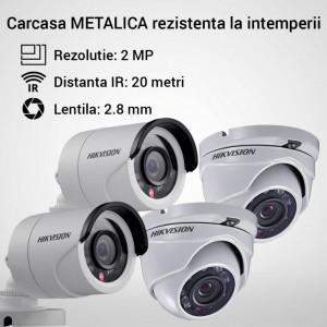 Kit Hikvision CCTV 4 camere dome/bullet TurboHD 2.0MP MK061-KIT11