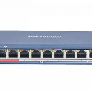 Switch 8 porturi PoE Hikvision carcasa plastic DS-3E0109P-E(C)