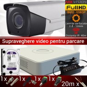 Kit supraveghere video Hikvision pentru parcare DS-16D7T04HQHI-F1/IT3Z