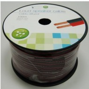 Cablu difuzor Well rosu-negru LSP-CCA1.00BR-100-WL