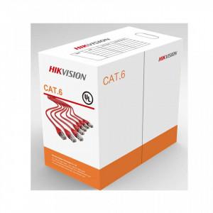 Cablu U/UTP Cat.6, 4xAWG23, PVC, portocaliu, cutie 305m, DS-1LN6-UU