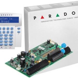 Centrala Paradox Spectra cu 16 zone cutie si tastatura SP7000(CT)+K32LX