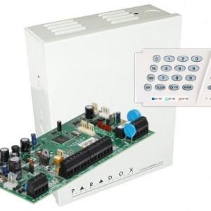 Centrala Paradox Spectra cu 5 zone cutie si tastatura SP5500(CT)+K636