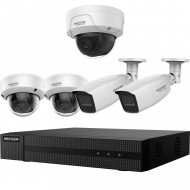 Kit HikVision HiWatch 2+2 camere analogice 4MP + camera IP 2 MP IR 30-40m MK-H023