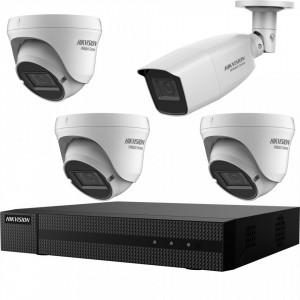 Kit HikVision HiWatch 4 camere 3+1 2MP varifocale IR 40m MK-H015