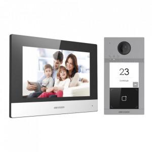 Kit Videointerfon IP HikVision pentru o familie cu Wi-Fi DS-KIS604-S