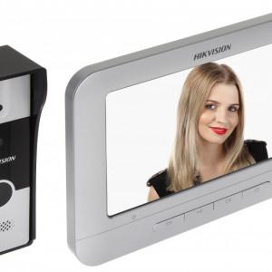 Kit Videointerfon pe 4 fire HikVision DS-KIS202