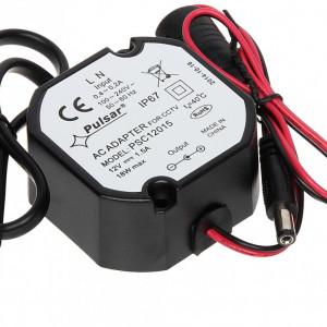 Sursa de alimentare CCTV capsulata Pulsar IP67 DC 12V/1.5A PSC PSC12015