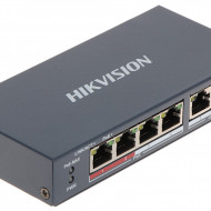 Switch HikVision 4 porturi PoE si doua uplink DS-3E0106P-E/M