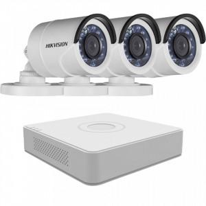 Sistem supraveghere exterior Hikvision 3 camere 2MP MK081-KIT30