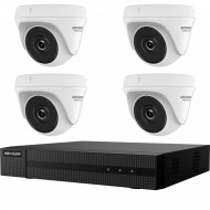 Kit HikVision HiWatch 4 camere 2MP IR 20m MK-H021