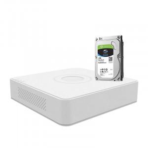 Kit DVR Hikvision TurboHD 4.0 4 canale cu hard-disk inclus DS-7104HUHI-K1-1TB