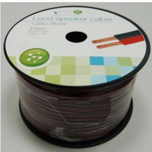 Cablu difuzor Well rosu-negru LSP-CCA0.75BR-100-WL