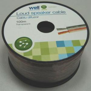 Cablu difuzor Well transparent LSP-CCA2.50TT-100-WL