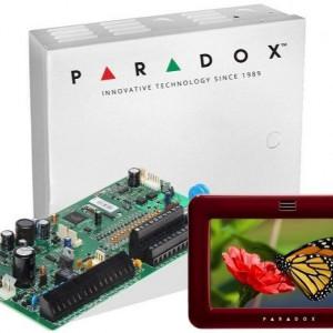 Centrala Paradox Spectra cu 16 zone cutie si tastatura 5inch SP7000(CT)+TM50(L)