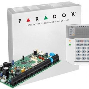 Centrala Paradox Spectra cu 8 zone cutie si tastatura SP6000(CT)+K32+