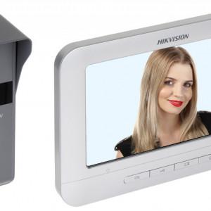 Kit Videointerfon pe 4 fire HikVision DS-KIS203