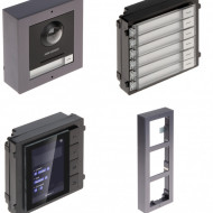 Post exterior HikVision 3 module aparent DS-KD8003-IME1/Surface+DS-KD-DIS+DS-KD-KK+DS-KD-ACW3