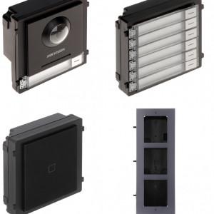 Post exterior HikVision 3 module ingropat DS-KD8003-IME1+DS-KD-E+DS-KD-KK+DS-KD-ACF3