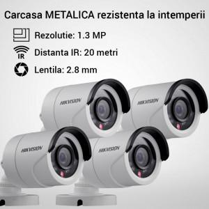 Kit Hikvision CCTV 4 camere bullet TurboHD 1.3MP MK053-KIT03