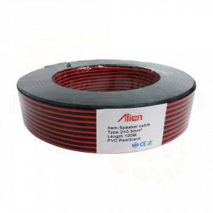 Cablu Alien de alimentare rosu/negru 2x0.50mm MK026-CA050