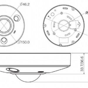 Camera Dahua IP 6MP DH-IPC-EBW8600