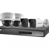 Kit 4 camere 2MP Hikvision 2 dome 2 bullet cu accesorii NK42E3H-1T(WD)