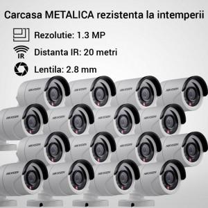 Kit Hikvision CCTV 16 camere bullet TurboHD 1.3MP MK059-KIT09