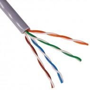 Cablu UTP Chrome Cat. 5E, 8 fire, aluminiu cuprat UTP5E-CCA-305-CHR