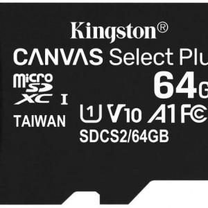 Card MicroSD Kingston 64GB Canvas Select plus SDCS2/64GBSP