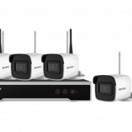 Kit 4 camere Bullet WiFi 4MP Hikvision NK44W0H-1T(WD)