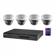 Kit 4 camere Dome 2MP Hikvision cu accesorii NK42E1H-1T(WD)