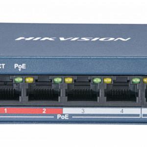 Switch 4 porturi PoE Hikvision DS-3E0105P-E/M(B)