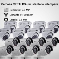 Kit Hikvision CCTV 16 camere dome/bullet TurboHD 2.0MP MK067-KIT17