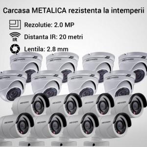 Kit Hikvision CCTV 16 camere dome/bullet TurboHD 2.0MP MK067-KIT17