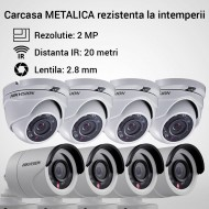 Kit Hikvision CCTV 8 camere dome/bullet TurboHD 2.0MP MK064-KIT14