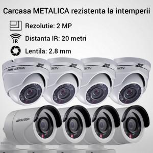 Kit Hikvision CCTV 8 camere dome/bullet TurboHD 2.0MP MK064-KIT14