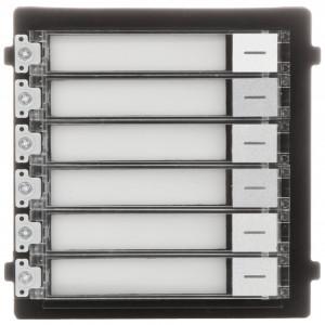 Post exterior HikVision 2 module aparent DS-KD8003-IME1/Surface+DS-KD-KK+DS-KD-ACW2