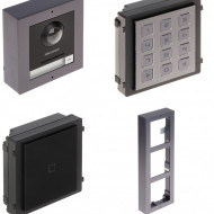 Post exterior HikVision 3 module aparent DS-KD8003-IME1/Surface+DS-KD-E+DS-KD-KP+DS-KD-ACW3