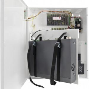 Sursa stabilizata in comutatie Pulsar cu backup si loc depozitare DVR/NVR 12V/10A PSUPS10A12CR