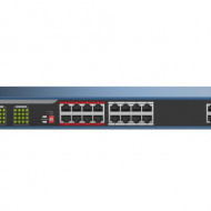 Switch 16 porturi PoE Hikvision carcasa din plastic DS-3E0318P-E(B)